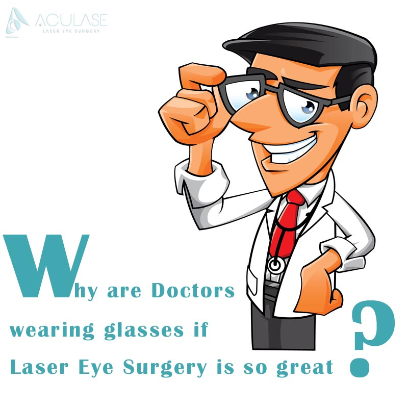 Why are doctors in glasses