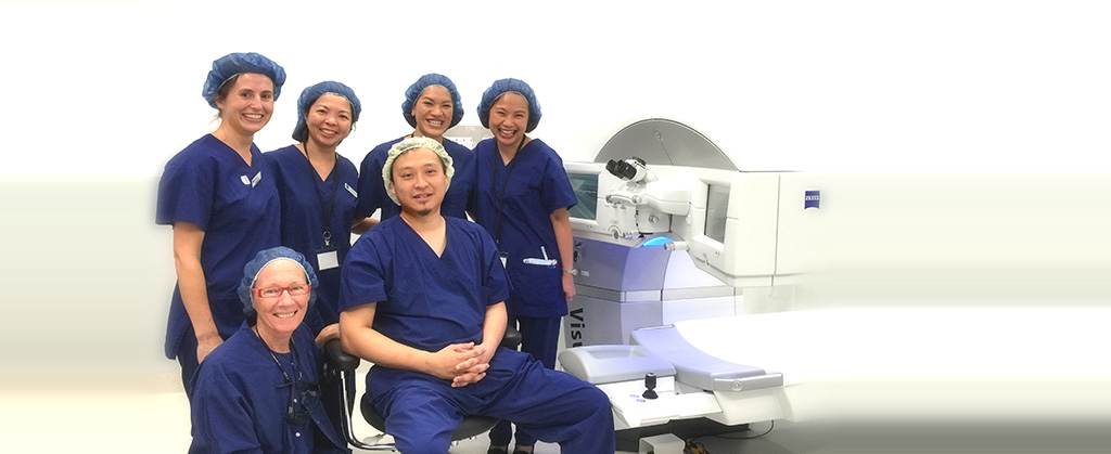 Perth Eye Hospital Laser Team - Nurses, Zeiss support, Aculase staff and Dr Ian Chan